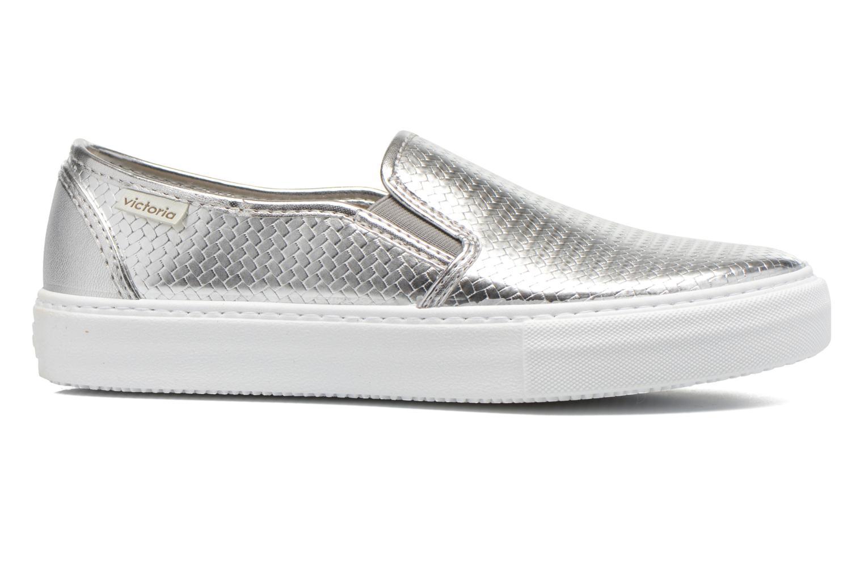 Sneakers Victoria Slip-on Metalizada Sølv se bagfra