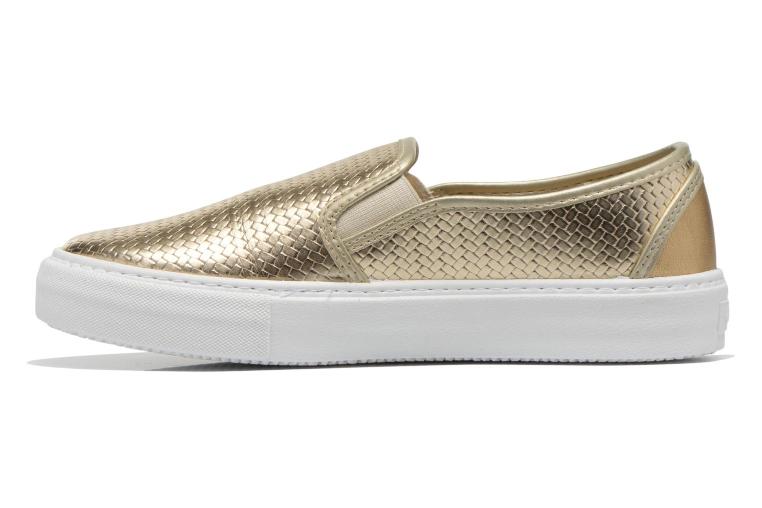 Baskets Victoria Slip-on Metalizada Or et bronze vue face