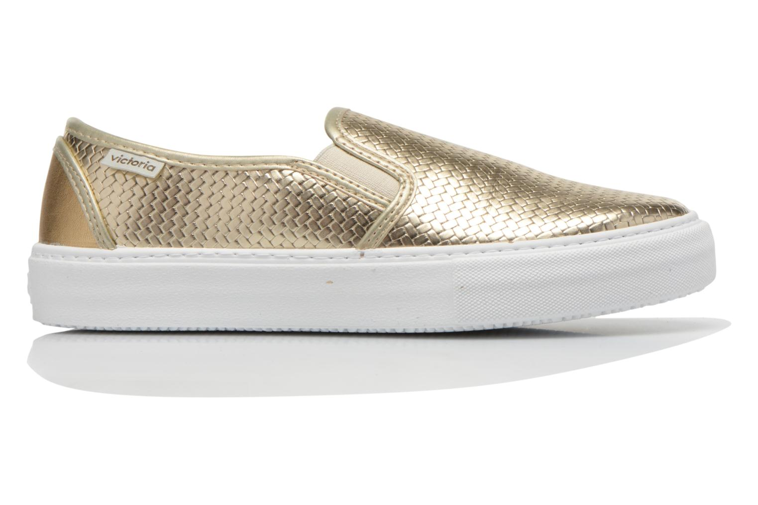 Baskets Victoria Slip-on Metalizada Or et bronze vue derrière
