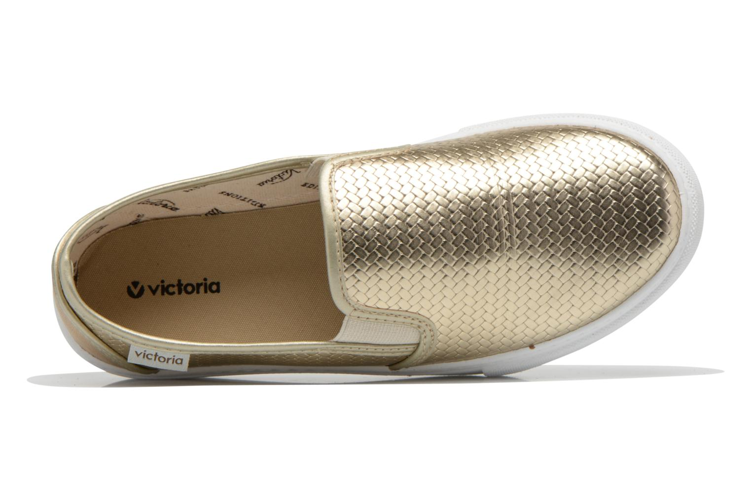 Baskets Victoria Slip-on Metalizada Or et bronze vue gauche