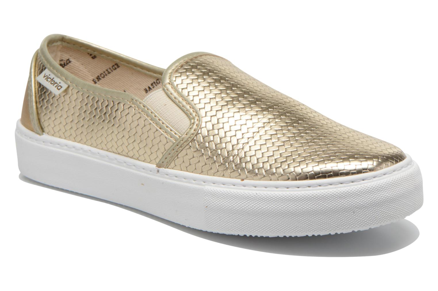 Baskets Victoria Slip-on Metalizada Or et bronze vue détail/paire