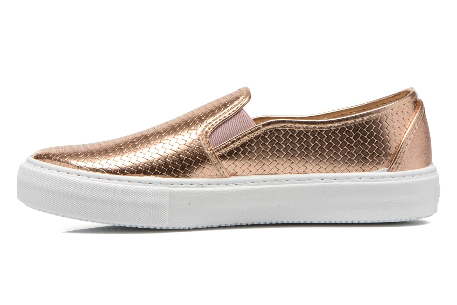 Sneakers Victoria Slip-on Metalizada Pink se forfra