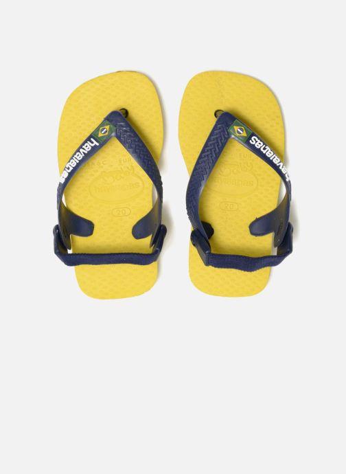 Zehensandalen Havaianas Baby Brazil Logo gelb 3 von 4 ansichten