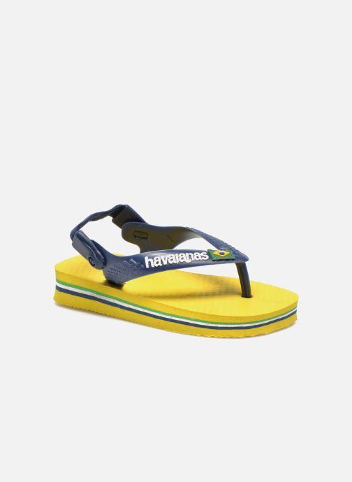 77a6fe2557d14 Havaianas Baby Brazil Logo (Jaune) - Tongs chez Sarenza (222359)