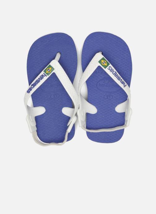 Flip flops & klipklapper Havaianas Baby Brazil Logo Blå 3/4 billede
