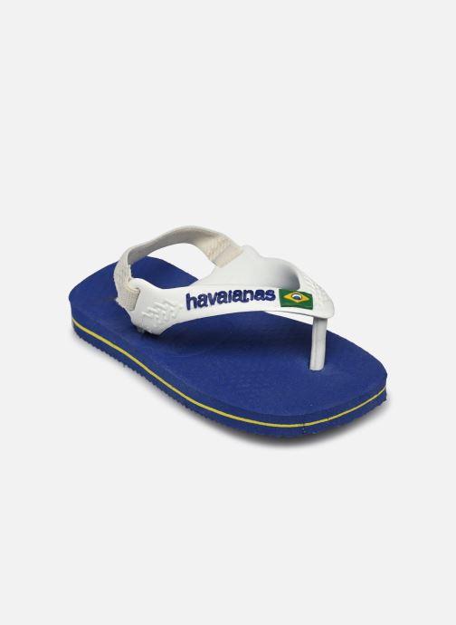 Flip flops Havaianas Baby Brazil Logo Blå bild av skorna på