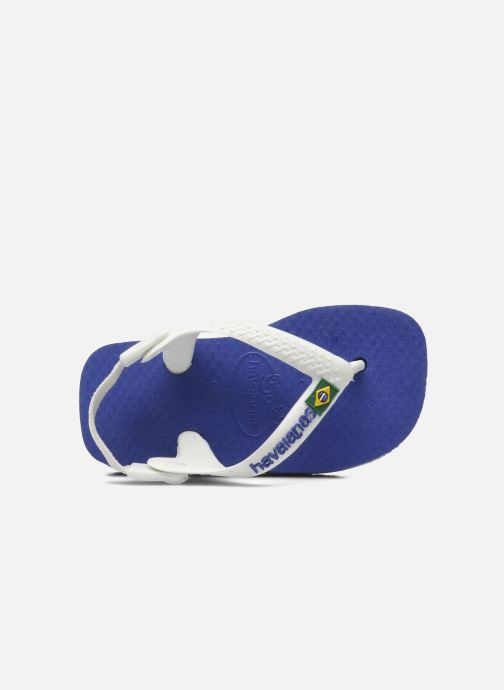 Flip flops & klipklapper Havaianas Baby Brazil Logo Blå se fra venstre