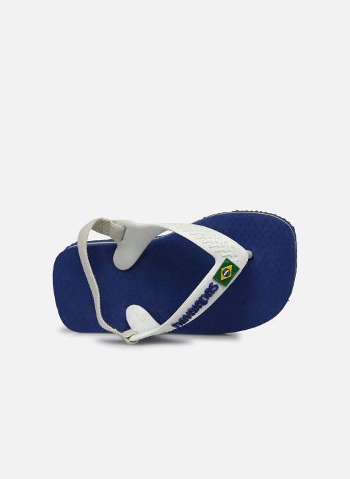 Chanclas Havaianas Baby Brazil Logo Azul vista lateral izquierda