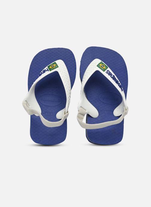 Tongs Havaianas Baby Brazil Logo Bleu vue détail/paire