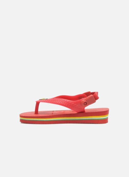 Tongs Havaianas Baby Brazil Logo Rouge vue portées chaussures