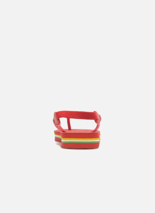 Tongs Havaianas Baby Brazil Logo Rouge vue face
