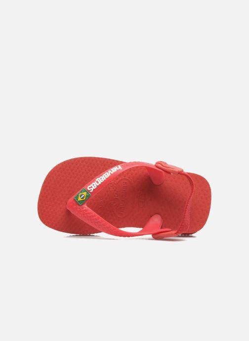 Zehensandalen Havaianas Baby Brazil Logo rot ansicht von hinten