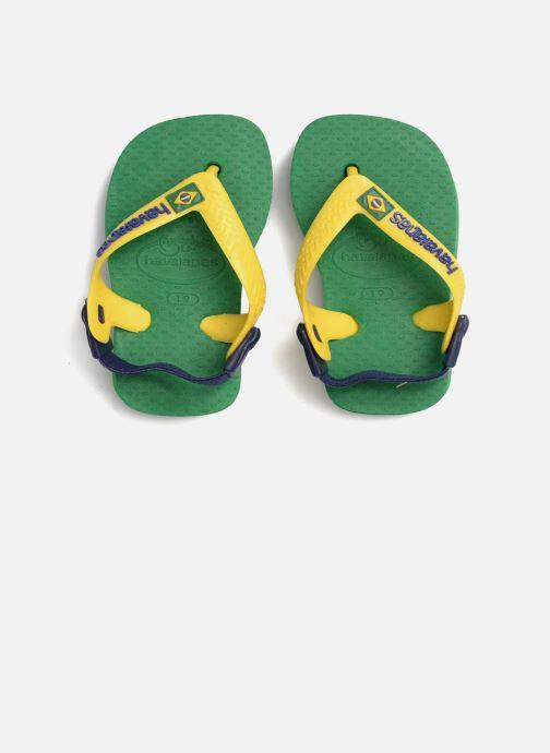 Chanclas Havaianas Baby Brazil Logo Verde vista 3/4