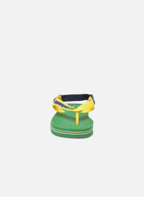 Chanclas Havaianas Baby Brazil Logo Verde vista del modelo