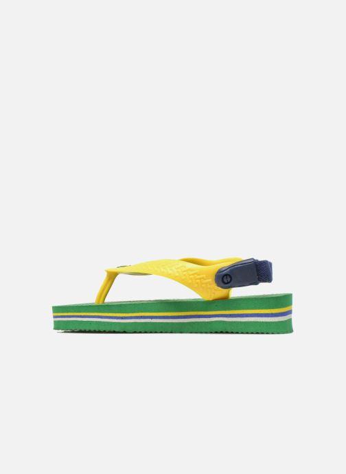 Slippers Havaianas Baby Brazil Logo Groen voorkant