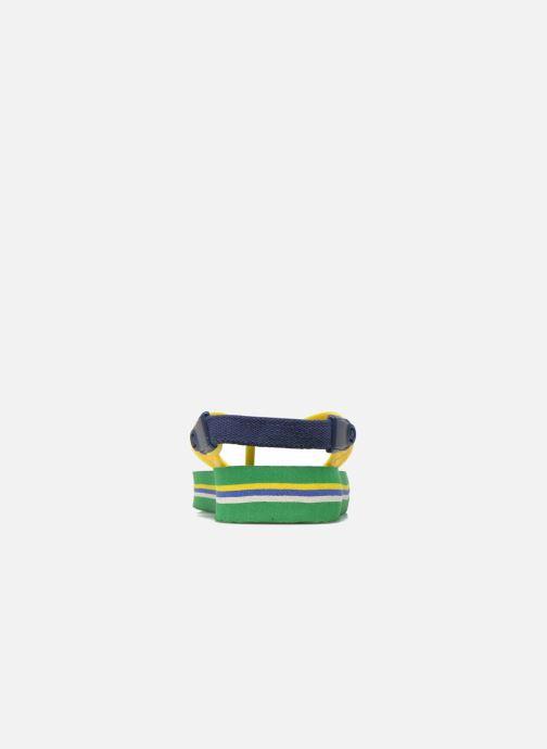Chanclas Havaianas Baby Brazil Logo Verde vista lateral derecha