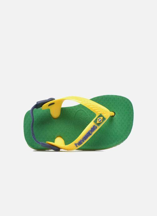 Chanclas Havaianas Baby Brazil Logo Verde vista lateral izquierda