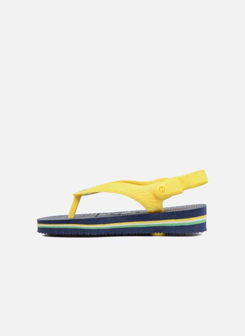 Tongs Havaianas Baby Brazil Logo Bleu vue portées chaussures