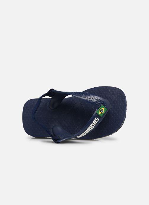 Slippers Havaianas Baby Brazil Logo Blauw links