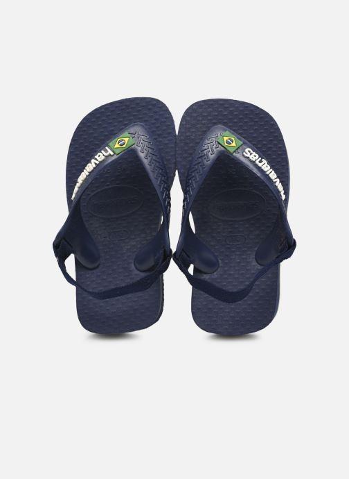 Flip flops & klipklapper Havaianas Baby Brazil Logo Blå detaljeret billede af skoene