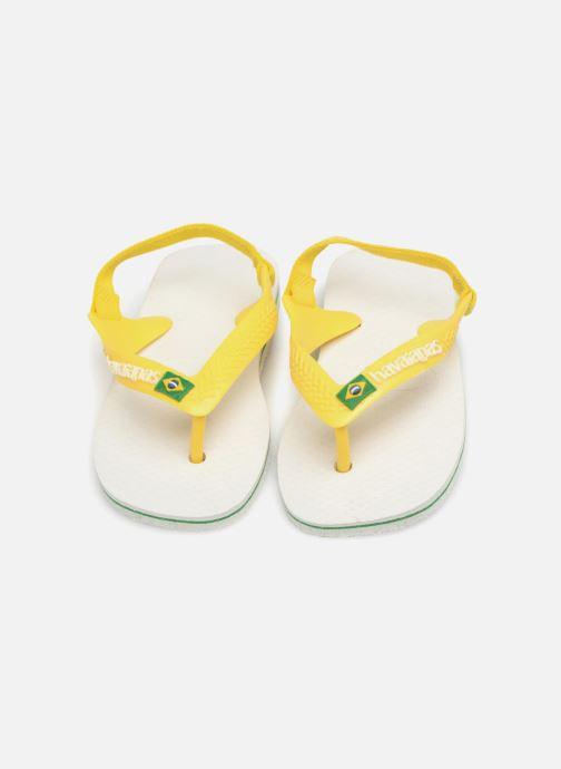 Chanclas Havaianas Baby Brazil Logo Blanco vista 3/4