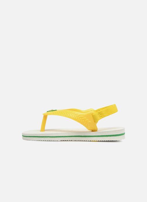 Flip flops & klipklapper Havaianas Baby Brazil Logo Hvid se forfra