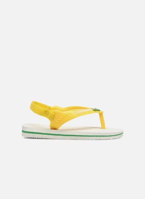 Flip flops & klipklapper Havaianas Baby Brazil Logo Hvid se bagfra