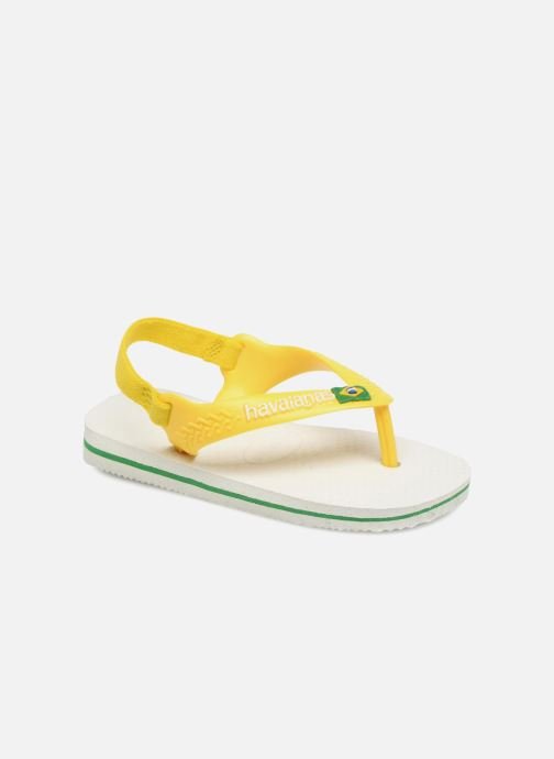 Flip flops & klipklapper Havaianas Baby Brazil Logo Hvid detaljeret billede af skoene