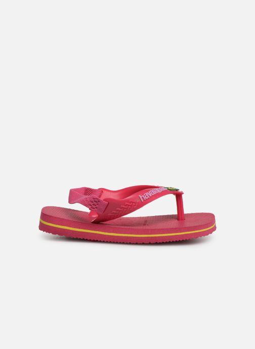 Slippers Havaianas Baby Brazil Logo Roze achterkant