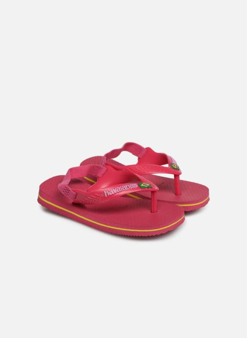 Zehensandalen Havaianas Baby Brazil Logo rosa detaillierte ansicht/modell