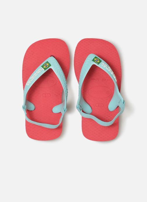 Flip flops & klipklapper Havaianas Baby Brazil Logo Pink se skoene på