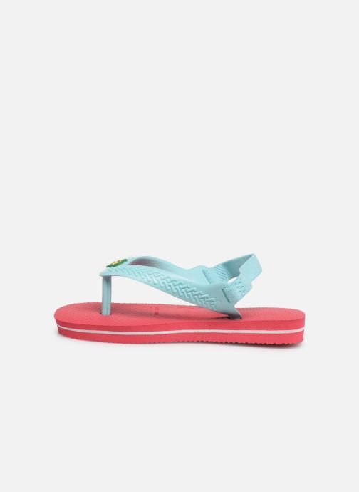 Tongs Havaianas Baby Brazil Logo Rose vue face