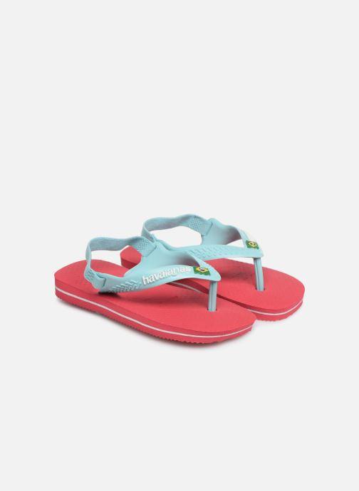 Flip flops & klipklapper Havaianas Baby Brazil Logo Pink detaljeret billede af skoene