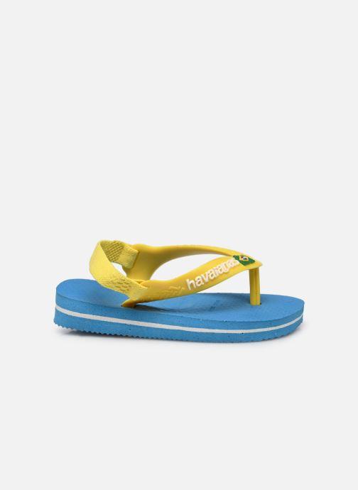 Flip flops & klipklapper Havaianas Baby Brazil Logo Blå se bagfra