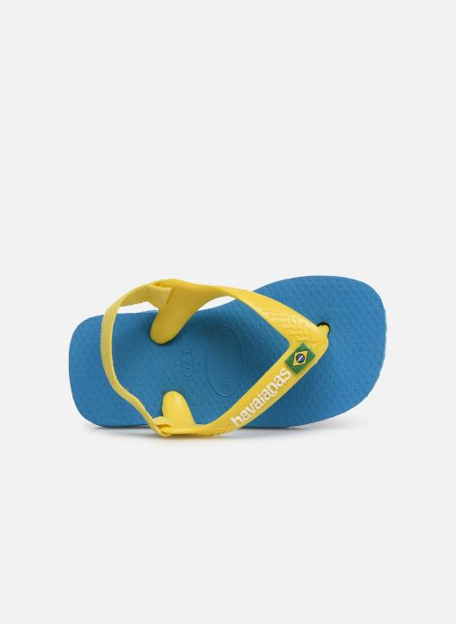 Tongs Havaianas Baby Brazil Logo Bleu vue gauche