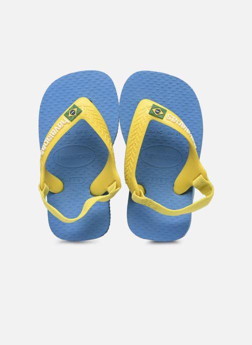 Zehensandalen Havaianas Baby Brazil Logo blau detaillierte ansicht/modell