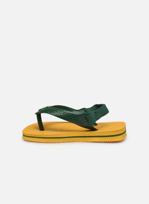 Chanclas Havaianas Baby Brazil Logo Amarillo vista de frente