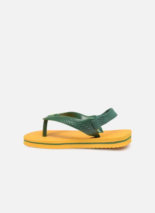 Zehensandalen Havaianas Baby Brazil Logo gelb ansicht von vorne
