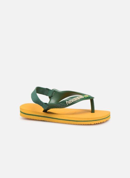 Zehensandalen Havaianas Baby Brazil Logo gelb ansicht von hinten