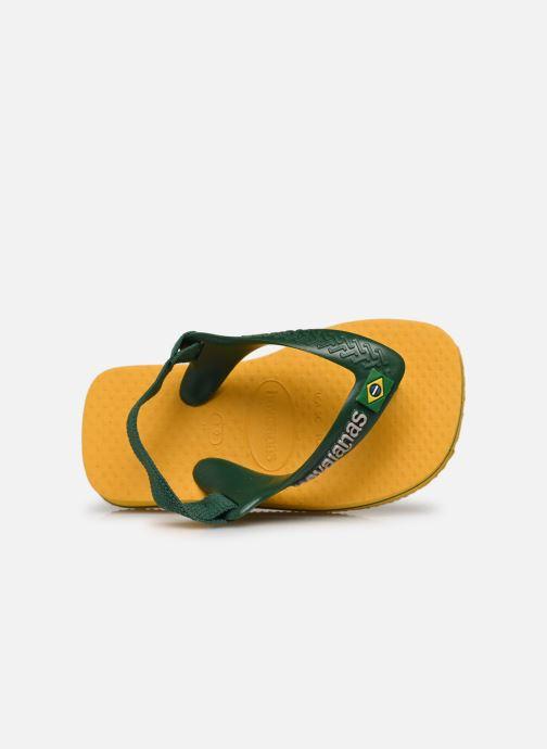 Slippers Havaianas Baby Brazil Logo Geel links