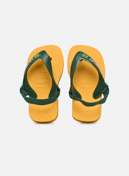 Chanclas Havaianas Baby Brazil Logo Amarillo vista de detalle / par