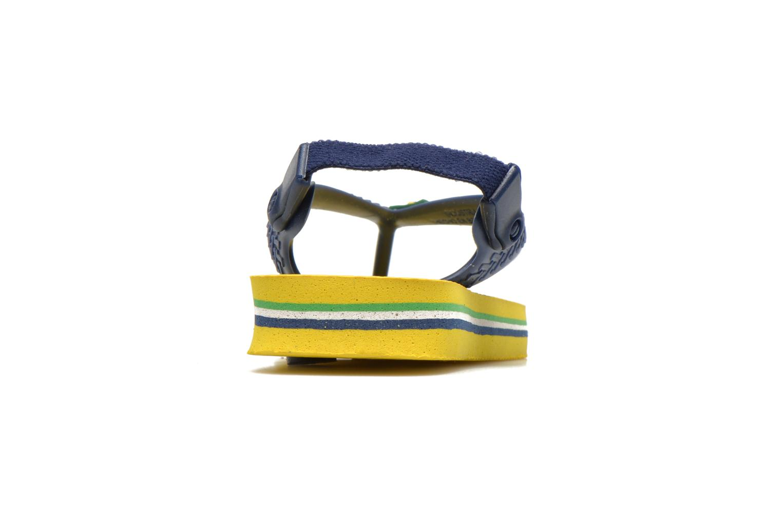 Flip flops Havaianas Baby Brazil Logo Yellow view from the right