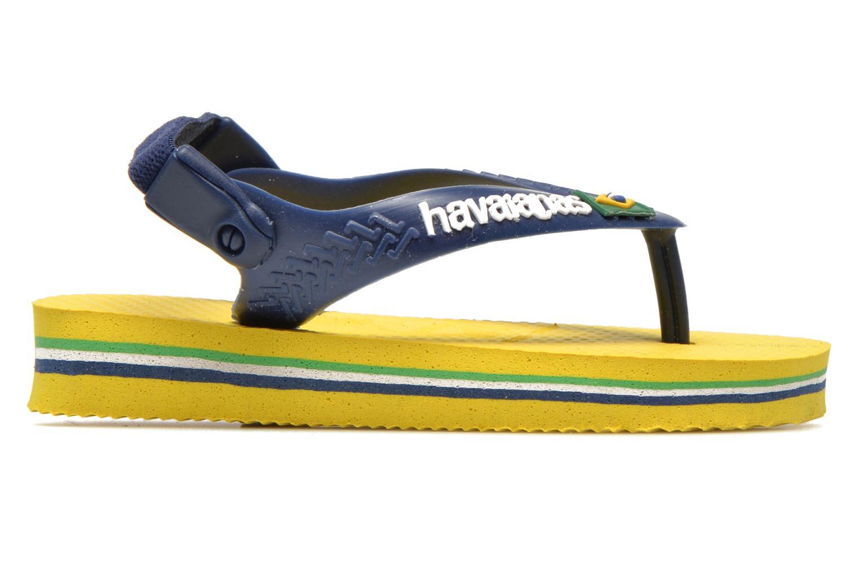 Infradito Havaianas Baby Brazil Logo Giallo immagine posteriore