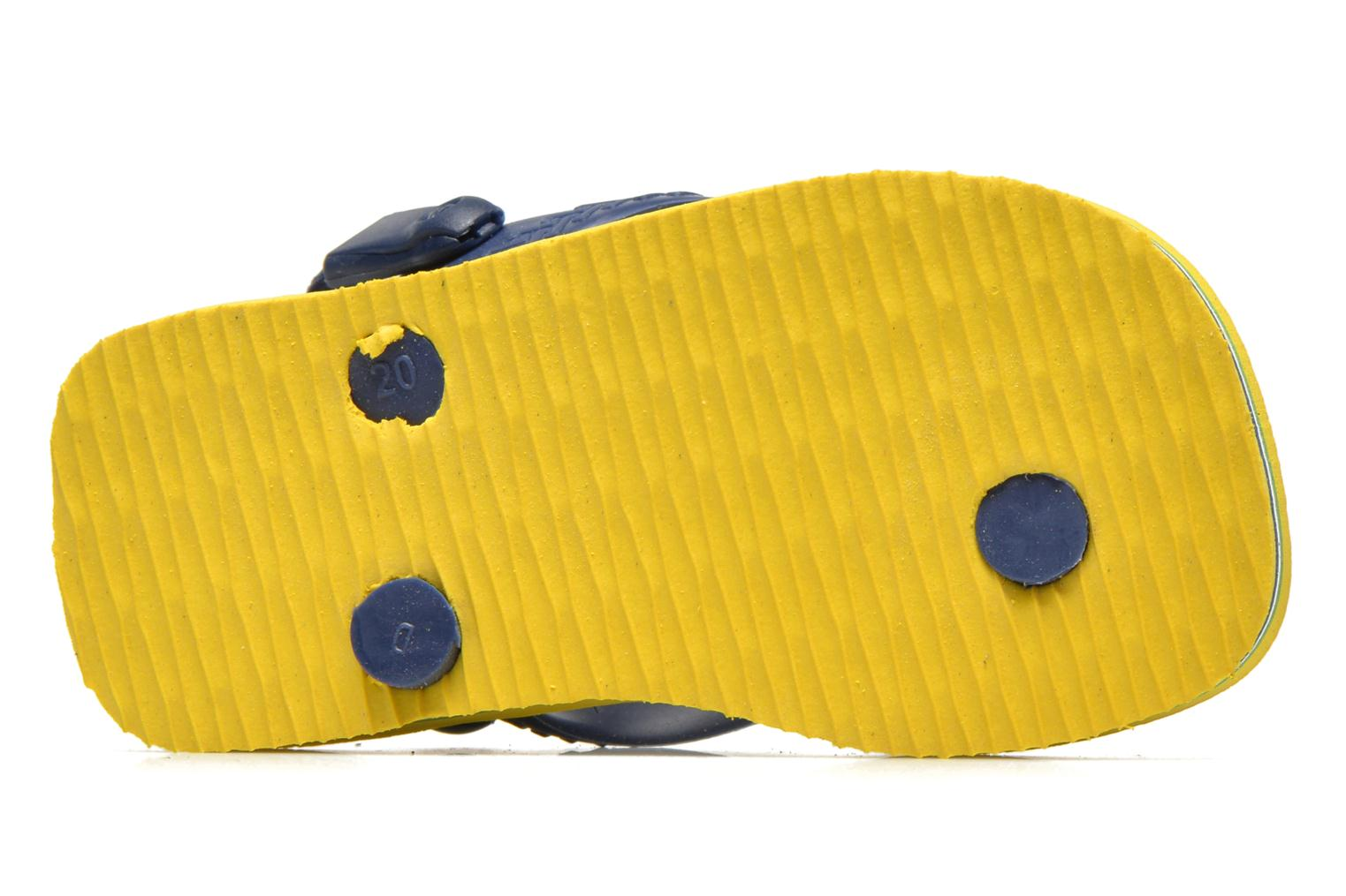 Flip flops Havaianas Baby Brazil Logo Yellow view from above