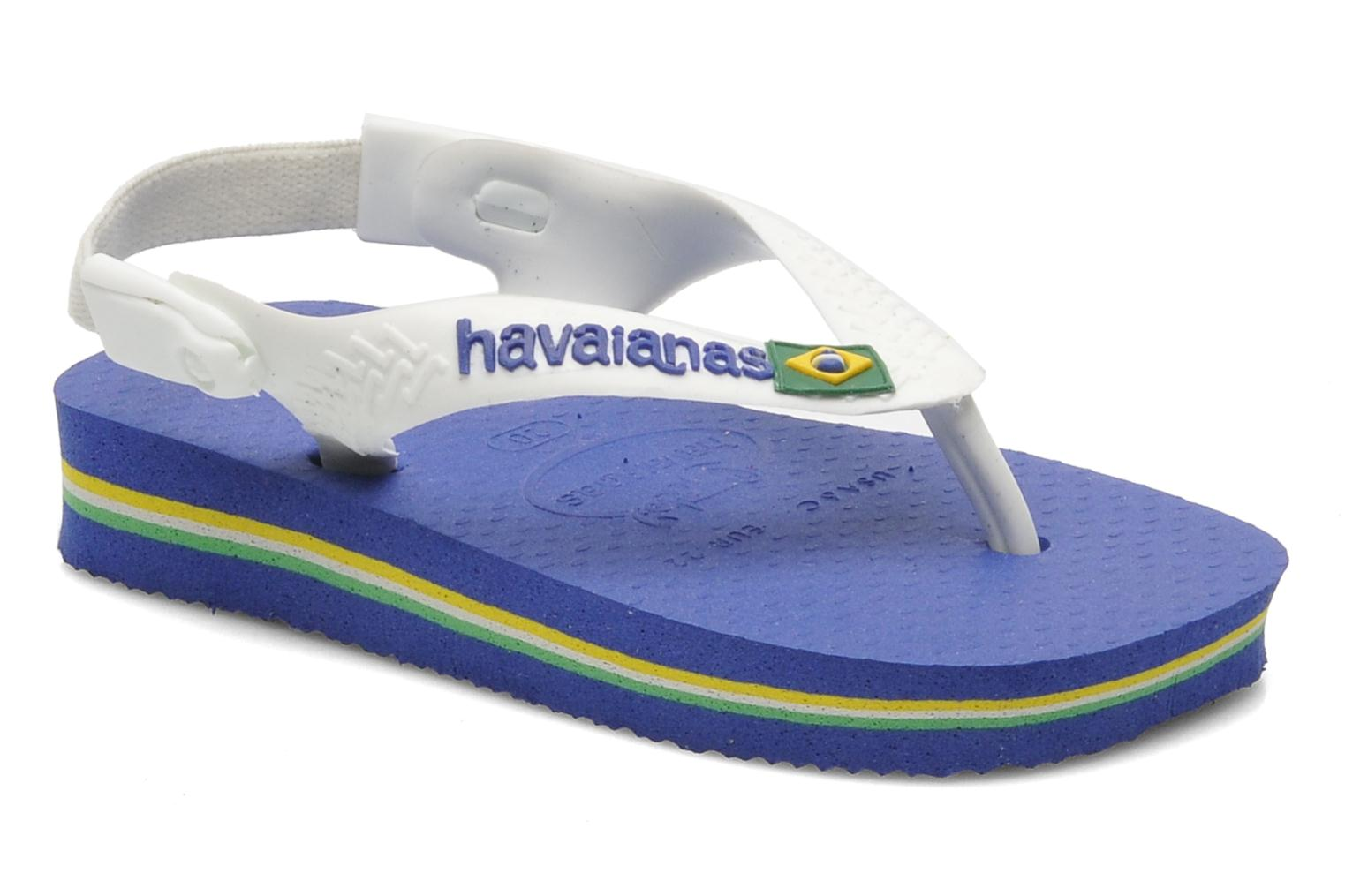 Flip flops Havaianas Baby Brazil Logo Blue detailed view/ Pair view