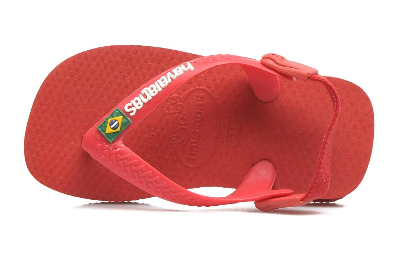 Infradito Havaianas Baby Brazil Logo Rosso immagine posteriore