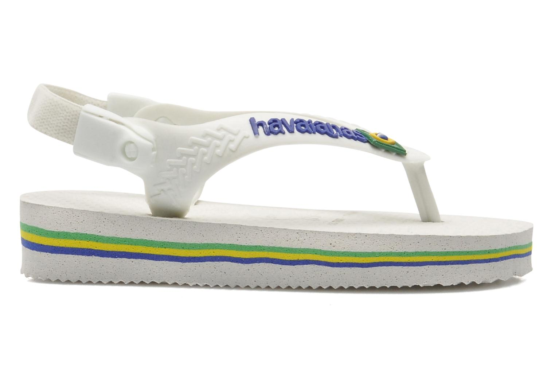 Tongs Havaianas Baby Brazil Logo Blanc vue droite