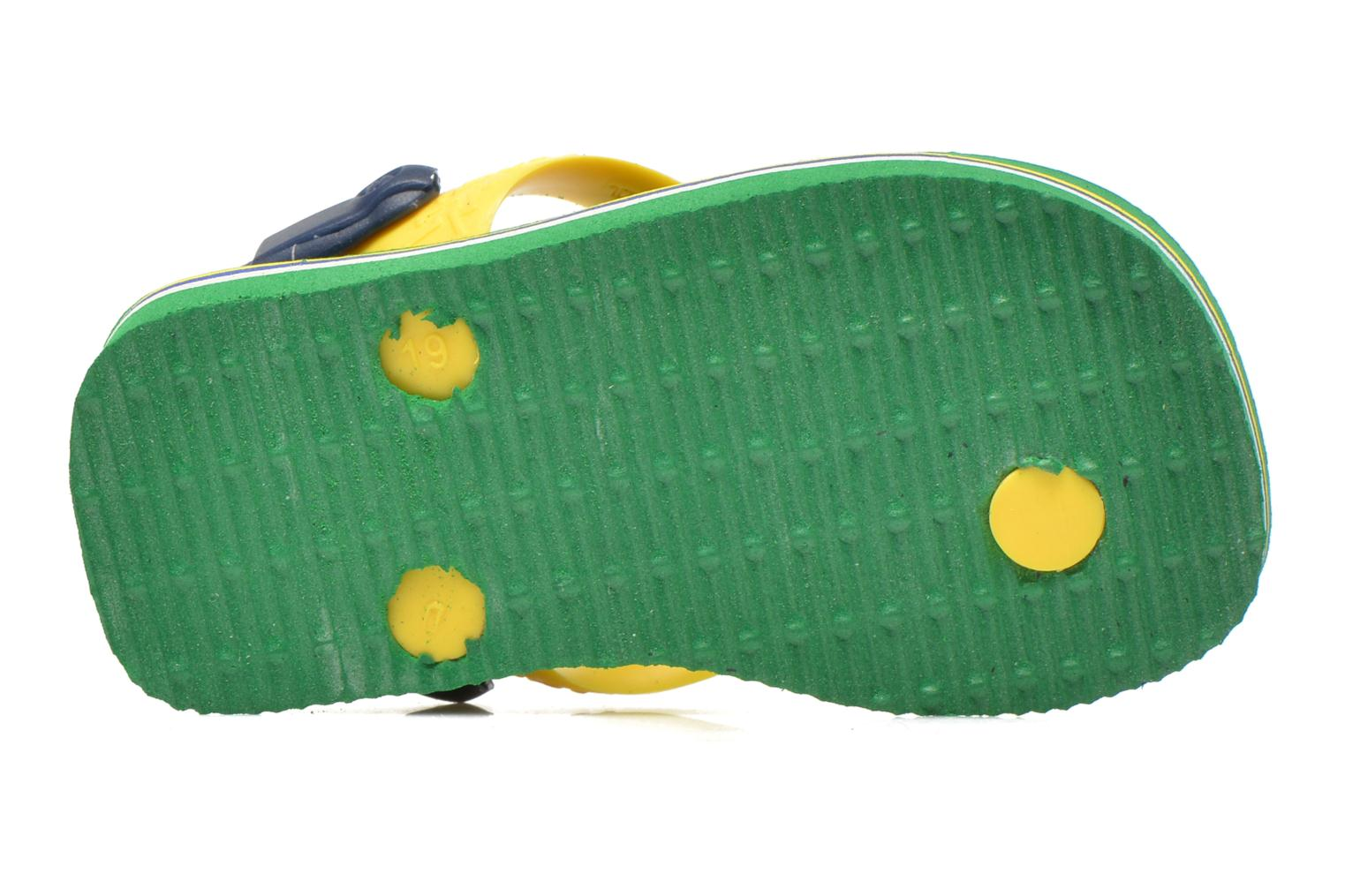 Flip flops Havaianas Baby Brazil Logo Green view from above