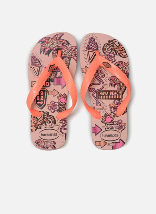 Tongs Havaianas Kids Fantasy Rose vue portées chaussures