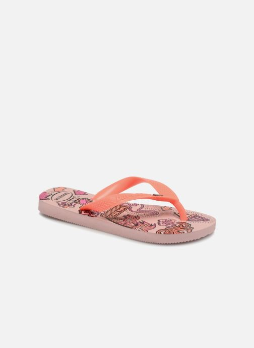 Tongs Havaianas Kids Fantasy Rose vue détail/paire